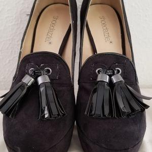 Shoedazzle Platform Pump Heeled Loafer sz 6
